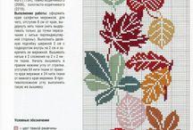 Σταυροβελονιά - Φύλλα-Leaves