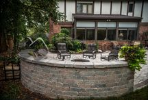 Sitting, Retaining and Privacy Walls / Pittsburgh Stone and Waterscapes can create a beautiful sitting wall around your patio, fire pit, outdoor living, pool, or garden! We can also build you a high privacy wall to keep those nosy neighbors out of your business - and you can have a piece of mind.