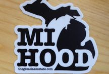 Michigan Stickers / Represent the Great Lakes State with a Michigan inspired sticker or decal designed by The Great Lakes State