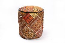 Ottomans /  jaipurtextilehub deals in online shopping of fine handmade Ottomans puffs.