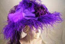 Victorian Hats / Victorian, Great Gatsby Hats, Steampunk Hats, Red and Purple Hats, Mad Hatter Hats and More!