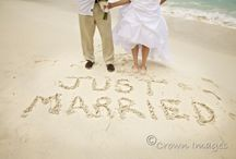 """beach wedding photos """"just married"""" in the sand - Google Search"""