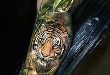 tiger sleeve and jungle