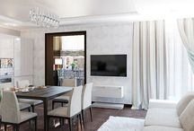 Дизайн интерьера комфортабельной квартиры в современном стиле / Пожелания заказчика: разработать максимально комфортный и природный дизайн интерьера квартиры в современном стиле.