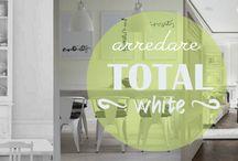 Arredare Total White / Il bianco si considera elegante quanto il nero. Un colore che richiama la purezza, l'autenticità e la genuinità. Un non colore che richiama il senso di leggerezza e aumenta la percezione dei volumi. Capace di riflettere la luce, sta bene con tutto ed esalta la luminosità degli altri colori presenti intorno