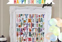 birthdays! / by Rachel Baker