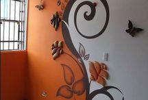 Ściany, dekoracje