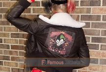 Bombshell Harley Quinn Jokers Wild Brown Leather Jacket Costume