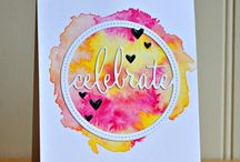 Watercolored Cards