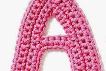 De A a Z letras de crochê