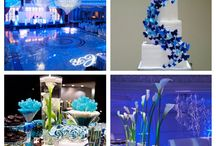 Royal Blue winter wedding