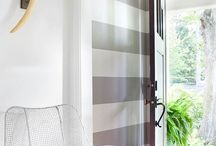 Stripes & Chevron / Great ways to enhance a room!