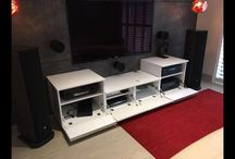 Custom Made White TV and Console Storage Unit