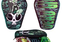 Cosmetic Bags & More / Goth Horror Punk Psychobilly Cosmetic Bags / Makeup Bags, cigarette cases and pill boxes!