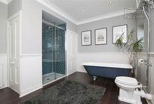 Bathroom Inspo / Bathroom ideas, bathroom tiles, bathroom flooring, bathtubs and bathroom sinks and bathroom accessories.