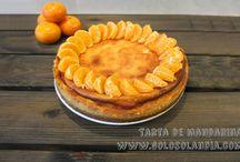 Tarta de mandarina / Hoy una de cítricos #tarta de #mandarina. Fácil #receta casera paso a paso. (incluye vídeo en HD).  http://www.golosolandia.com/2015/03/tarta-de-mandarina.html