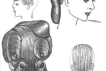 Hair setting patterns