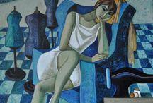 Blue & Turquoise Art 2 / ART