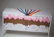 DIY / Vi gav 2 kunstnere fra ArtRebels, København, et møbel hver, og bad dem gøre det til deres helt eget. Se her hvordan Stine og Emil gjorde deres IKEA møbel helt personligt. / by IKEA DANMARK