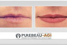 Makijaż permanentny- usta / Zdjęcia przed i po zabiegu- Purebeau- AGI