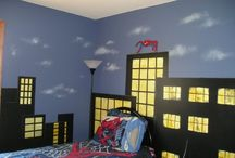 Gabe and Eli's room ideas / Need to combine Superhero and ninja turtles for little boys who share a room / by Connie Timms
