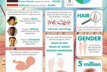 infographic hair, skin and body