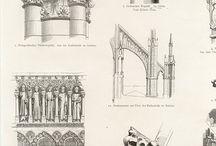 Architecture of the Middle Ages = Архитектура Средневековья / Культовая и крепостная архитектура, жилые постройки европейского Средневековья