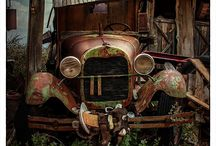 Antique cars junk