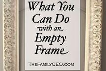Reinventing  Frames / ways to reuse old frames. frame up-cycling