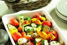 Gegrilde groente schotel