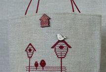 Cross stitch, Bags