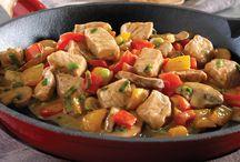 Plat viande et légumes