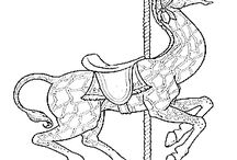 carrousel coloring pages