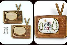 Selina Hudson Designs ... embroidery blanks & needle minders / Selina Hudson Designs, designer for Hudson's Holidays as well. she cuts wood pendant blanks, needle minders, tags, rings, earrings, pendants, HEXIES, mini hoops, pins, cameras, tv's and much more. SelinaHudsonDesigns.com