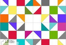 三角と四角のパターン(パッチワーク関係)