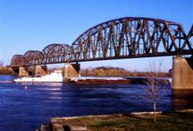 The Henderson Kentucky Railroad Bridge / One of the most photographed places in Henderson. Water Street, Henderson, KY.