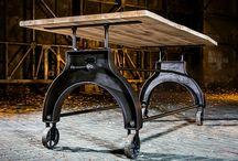 Factory Design / Huonekalut täynnä asennetta ja persoonallisuutta! Ronskia rautaa jota puu upeasti pehmentää.