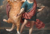 fat cat art! / esistono quadri che immortalano un grosso e grasso gatto? evidentemente sí