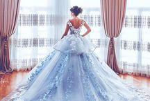 Wedding dress & makeup