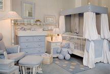 Nursery room decore.  Too busy but like softness.