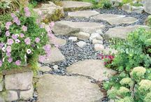 Backyard ideas / Path between mulch and grass area / by Millie Walker