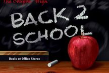 Back to School Savings / Back to School time can be expensive.  Start stocking up now with the deals to save.