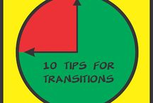 Transitions / Ideas that may help with difficult transition times.  Many of these ideas can be adapted for school, home, and community situations.