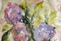 """Home decor - Flowers / Watercolor, digital and photographic images of flowers painted by Susie """"Sami"""" Myers"""