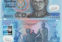 Billets Thailande / Les billets de banque Thaillande en circulation sont : 20, 50, 100, 500, et 1000 Bahts (billet apparu en 2001). Une nouvelle série (la série 16) de billet depuis 2012 est à l'effigie du roi Rama 9, comme toutes les autres coupures en circulation.