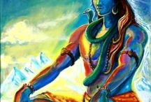 water color painting / a holy painting of lord shiva