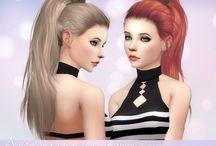 The Sims 4 CC (vlastní obsah) vlasy