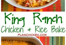 ranch chicken and rice bake