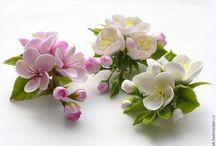 заколки из цветов