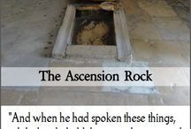 Wniebowstąpienie Skale w Jerozolimie, z którego Jezus wstąpił do nieba.